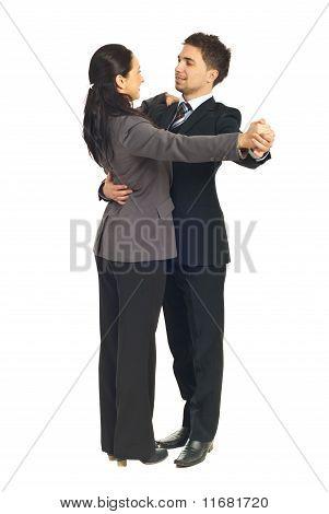 Business People Colleagues Dancing Waltz