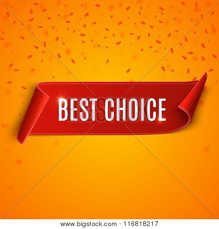 Best Choice Vector Banner.