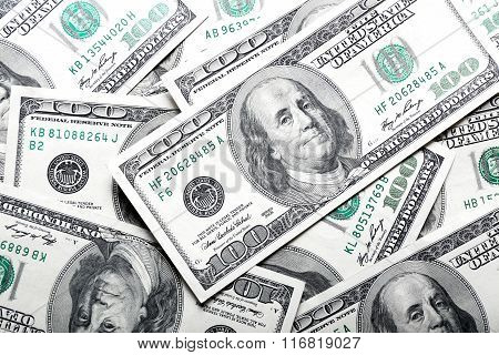 Dollars Banknotes Background