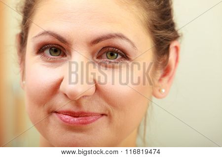 Portrait Of Mature Woman Female.
