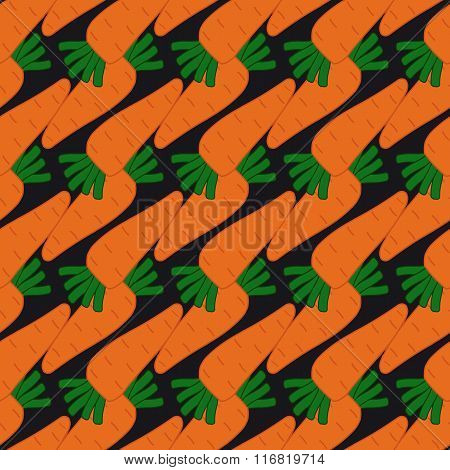 Seamless Pattern With Carrots