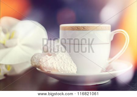 Cup Of Coffee And Cookie