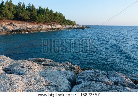 Rocky Coast On Peninsula Kamenjak In Croatia