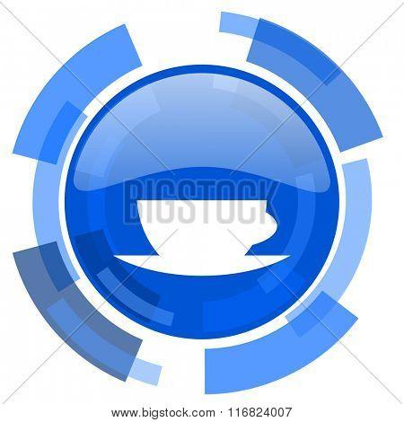 espresso blue glossy circle modern web icon