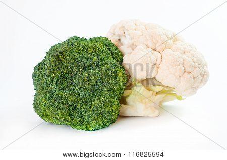 Fresh Green Broccoli. Cauliflower.