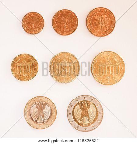 Euro Coins Series Vintage