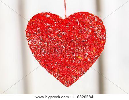 Wicker Heart Valentine