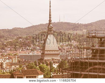 Retro Looking Mole Antonelliana Turin