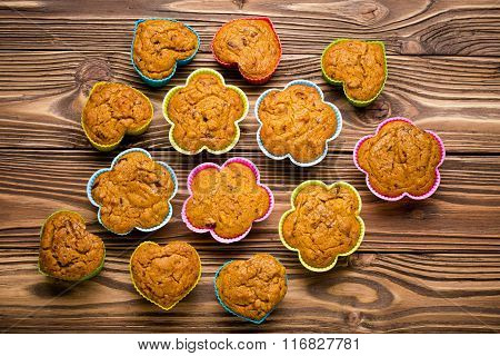 Delicious homemade pumpkin millet cupcakes