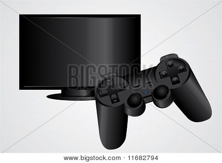 Gamepad And Tv
