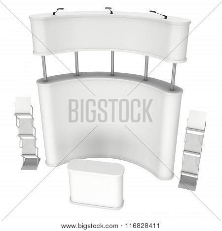 Pop-up Stand With Reception Desk And Magazine Rack