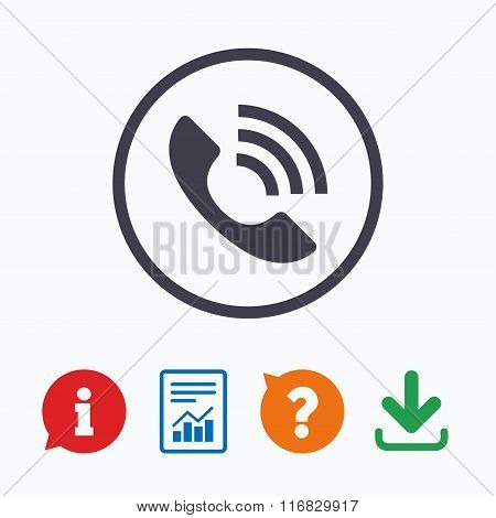 Phone sign icon. Call support symbol.