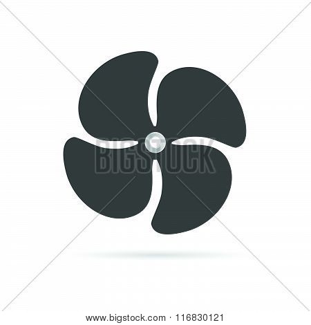 Propeller Rotate Illustration Silhouette