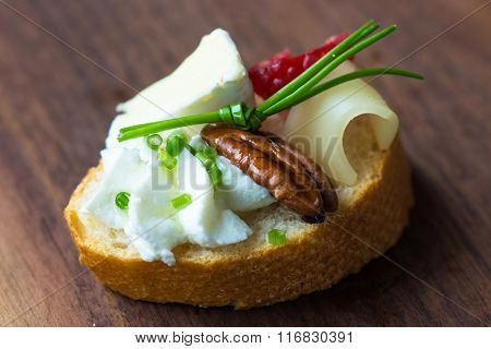 Delicious cheese Canapé