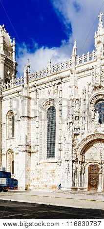 The Jeronimos Monastery Or Hieronymites Monastery Is Located In Lisbon
