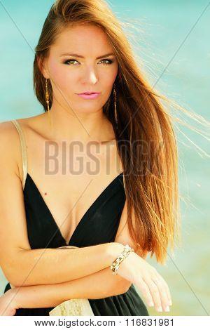 Beautiful Summer Girl Portrait Outdoor