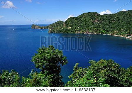 Leaving Bay Of Soufriere