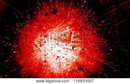 Red explosion background