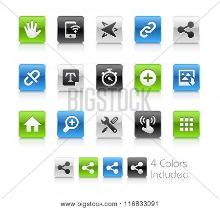 Web and Mobile Icons 10 / The file Includes 4 color versions in different layers.