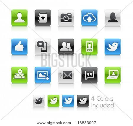 Social Icons / The file Includes 4 color versions in different layers.