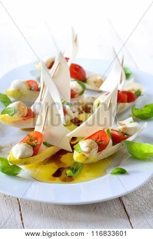 Mediterranean chicory sailboats