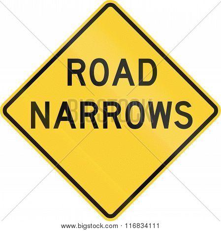 United States Mutcd Road Sign - Road Narrows
