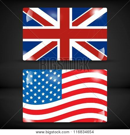 USA and United Kingdom flag