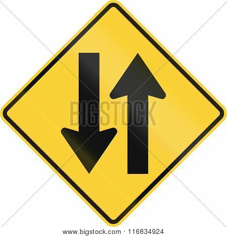 United States Mutcd Road Sign - Two Way Traffic