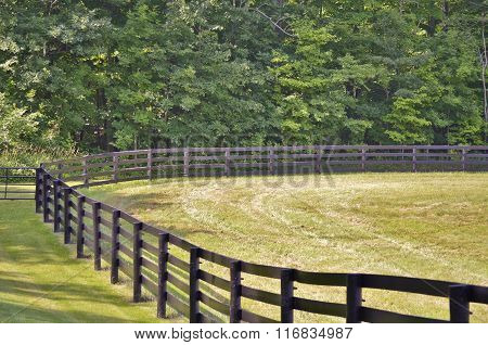 Brown colored country style fence