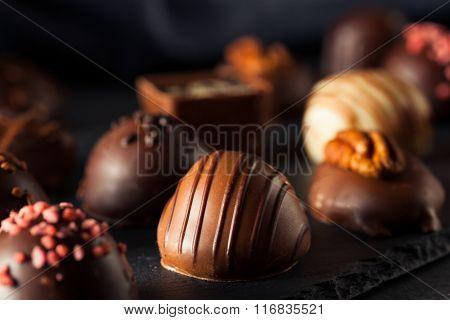 Homemade Dark Chocolate Truffles