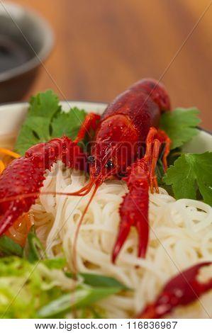 Crawfish Noodle Soup