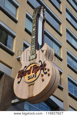 Hard Rock Cafe Detroit Guitar