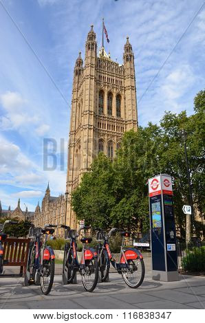 Bike Rental Station Near Parliament