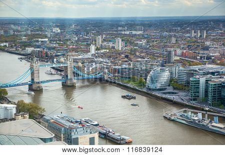 Tower bridge and River Thames, London