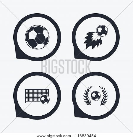 Football icons. Soccer ball sport.