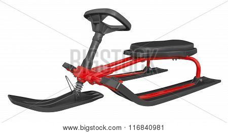 Snow Sledge Isolated - Red