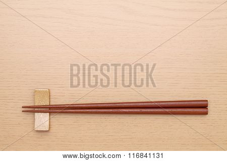 Chopsticks and chopsticks rest