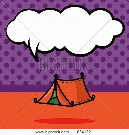 Tent Color Doodle