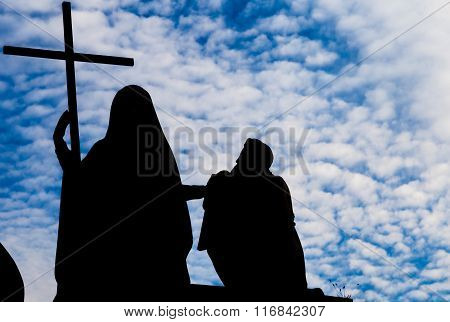 Turin, Italy - January 2016: Religion Statue