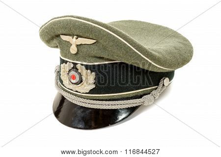 German In The Second World War. German Officer Uniform Cap