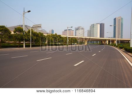 Asphalt Pavement City Road