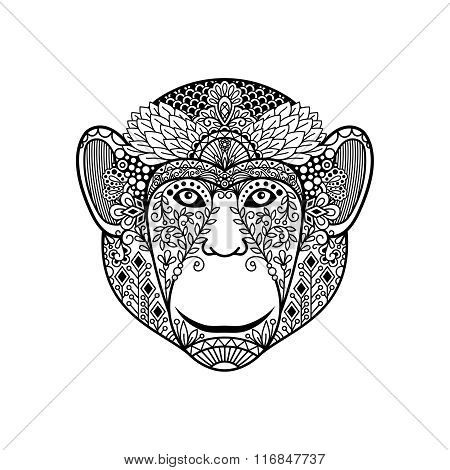 Zentagle monkey head