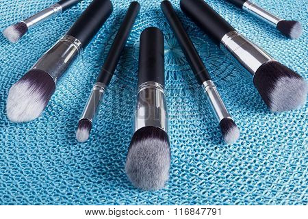 Classic Set Of Brushes For Cosmetics
