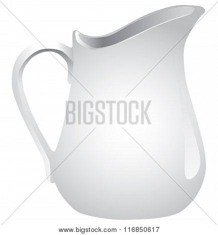 White Ceramic Jug Liquid