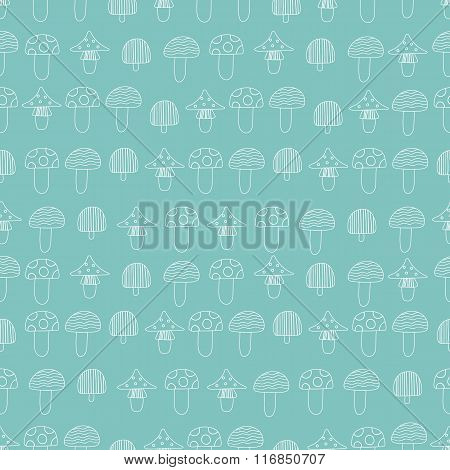 Pattern Of Mushrooms