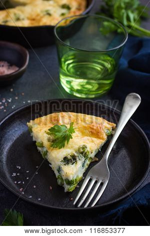 Frittata (omelette) With Vegetables And Cheese