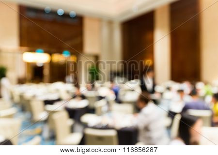 Blurred image of ball room