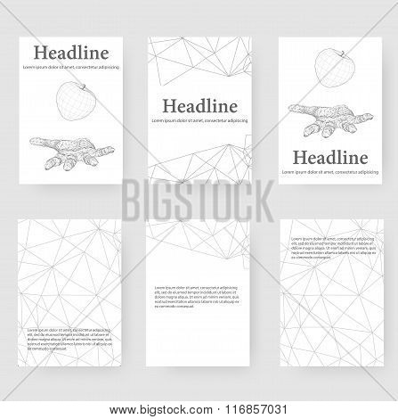 Abstract Creative concept vector background of the human hand. Polygonal design style letterhead and