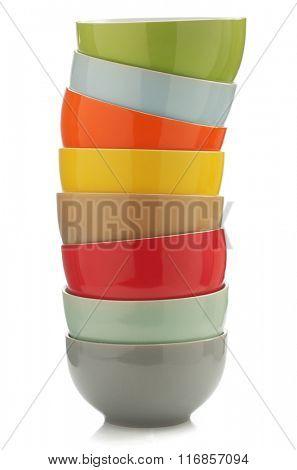 ceramic bowl isolated on white background