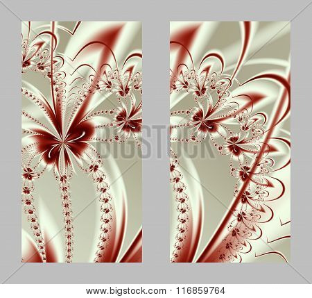 Mobile Phone Cover Back With Beautiful Pattern In Fractal Design.